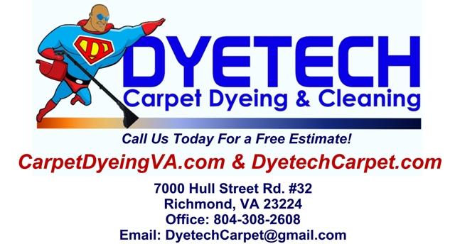 Carpet Dyeing Virginia - Dyetech Carpets