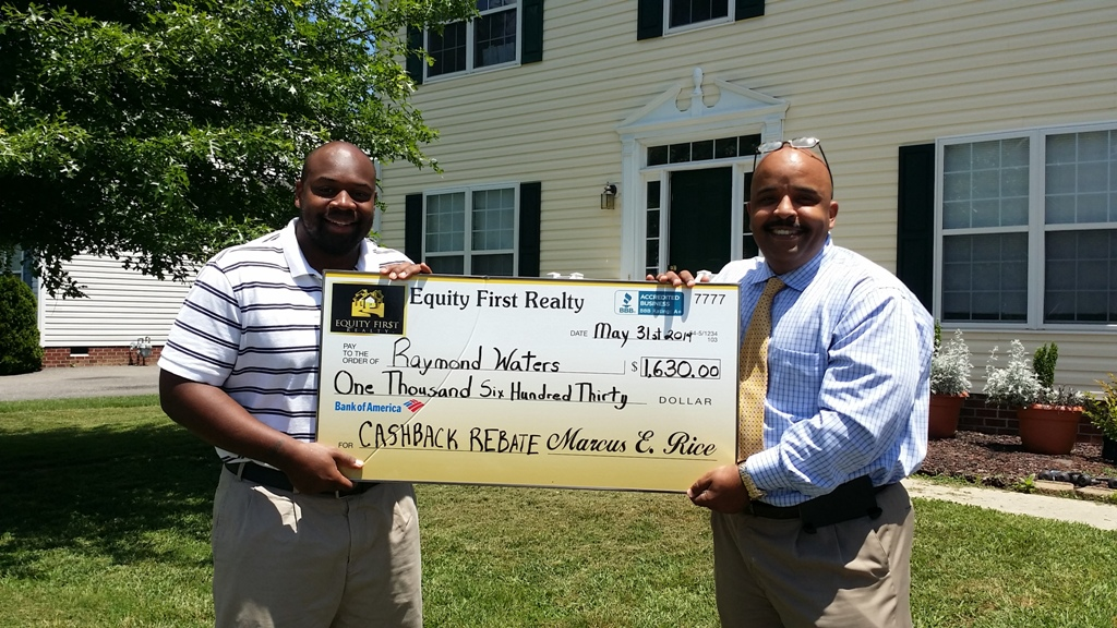 BUYER RECEIVES $1,630.00 CASH BACK REBATE CHECK
