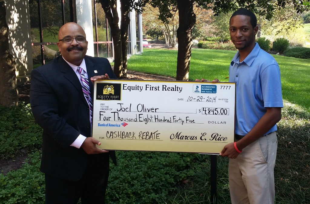 Home Buyer Receives $4,845.00 Rebate Check