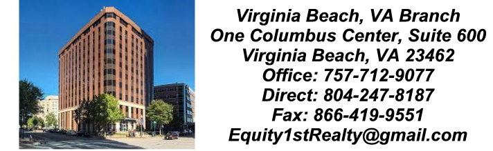Equity First Realty Fredericksburg VA